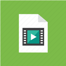 extension, file, filetype, format, video icon