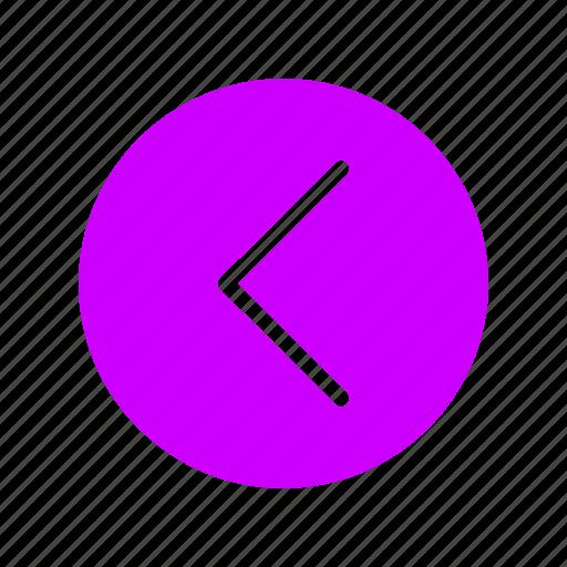 arrow, back, left, move, navigation icon