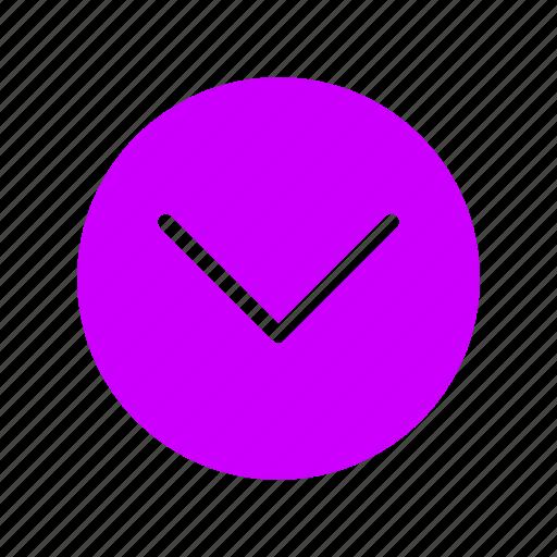 arrow, down, move, navigation icon