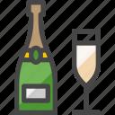 champagne bottle, champagne, alcohol, drink, beverage