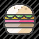 cheeseburger, hamburger, burger, fast food, junk food