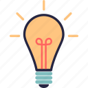 bulb, electric, flash, idea, lamp icon