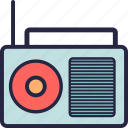 audio, music, radio, sound icon