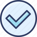 action, checkmark, complete, done, verify icon