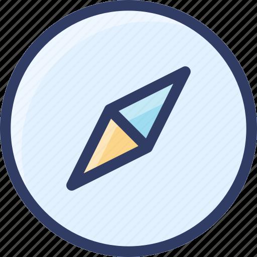 action, archive, compass, safari, web icon