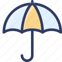 action, protection, rain, umbrella, weather icon