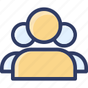 action, community, forum, group, user, users icon