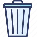 bin, delete, recycle, trash