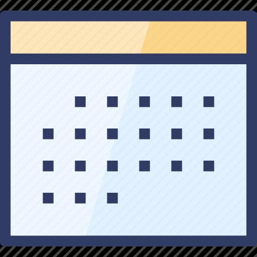 action, calendar, month, plan, schedule icon