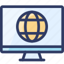 community, globe, internet, online, seo icon