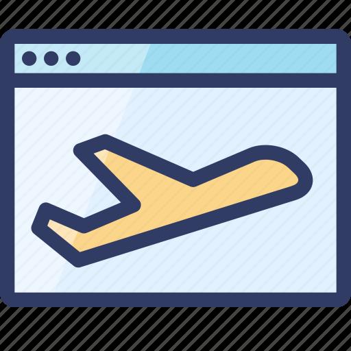 browser, landing, page, plane, seo, web icon