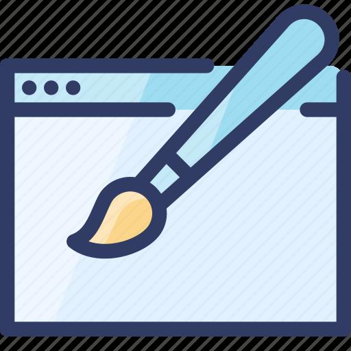 art, browser, brush, design, seo, web icon
