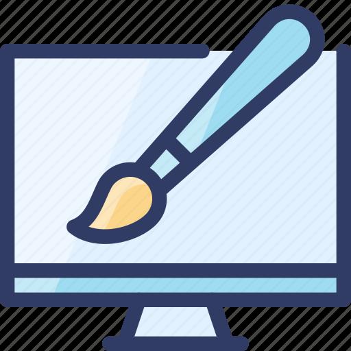 art, brush, computer, design, seo, web icon