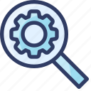keywork, research, search, seo, setting icon