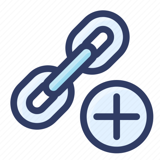 add, building, chain, link, new, seo icon