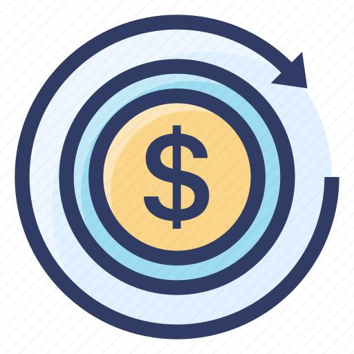 coin, investment, money, return, seo icon
