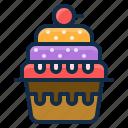 cake, dessert, element, cup, restaurant icon