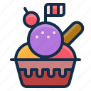 dessert, element, icecream, restaurant, scoops icon