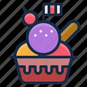 dessert, element, restaurant, icecream, scoops icon