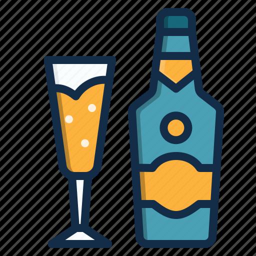 alcohol, beverage, champagne, drink, element, restaurant icon