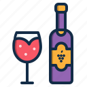 alcohol, beverage, drink, element, red, restaurant, wine icon