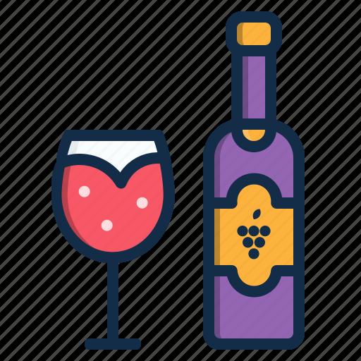 alcohol, beverage, drink, element, red, restaurant, wine icon