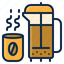 beverage, coffee, drink, element, hot, restaurant, tea icon