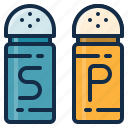 element, food, garnish, pepper, restaurant, salt icon