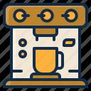machine, element, coffee, kitchen, restaurant icon