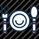 fork, restaurant, food, element, spoon, dish, kitchen icon
