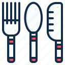 element, food, fork, kitchen, knife, restaurant, spoon icon
