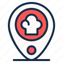 element, location, map, pin, restaurant, shop, store icon
