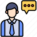 consultant, customer, support icon