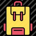 backpack, bag, school