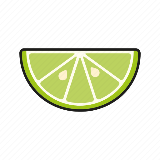 food, fresh, fruit, lime, slice, sour icon