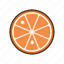 food, fresh, fruit, orange, slice