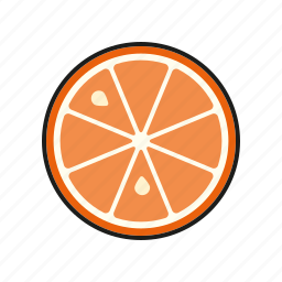 food, fresh, fruit, orange, slice icon