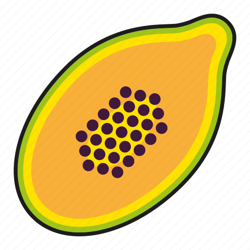 exotic, food, fresh, fruit, papaya, paw paw, tropical icon