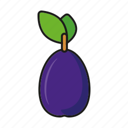 food, fresh, fruit, plum, prune icon