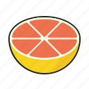 food, fresh, fruit, grapefruit, pink icon