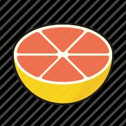 food, fresh, fruit, grapefruit, pink icon