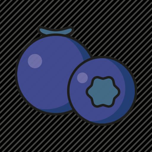 blueberry, food, fresh, fruit icon