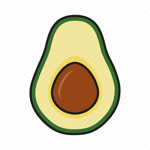 avocado, food, fresh, fruit, tropical icon