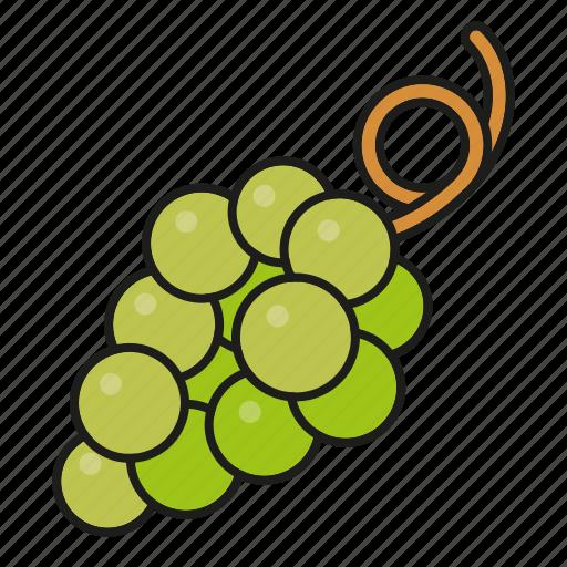 food, fresh, fruit, grapes, green, wine icon