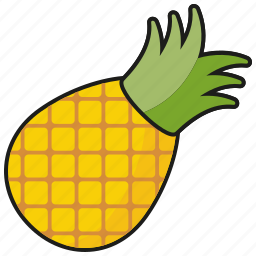 food, fresh, fruit, pineapple, sweet, tropical icon