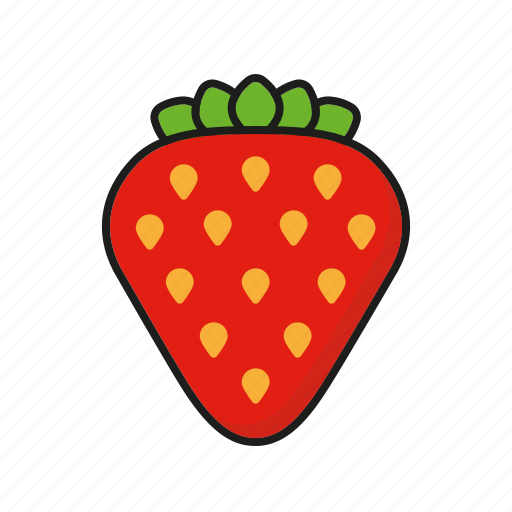 food, fresh, fruit, strawberry, sweet icon