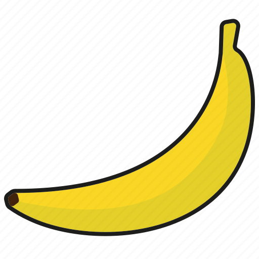 banana, food, fresh, fruit icon