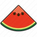 food, fresh, fruit, melon, piece, slice, watermelon icon