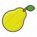food, fresh, fruit, pear icon