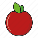 apple, food, fresh, fruit, red icon